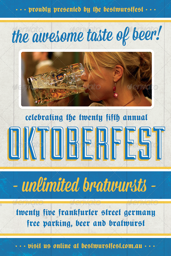 Beer Festival - Oktoberfest Flyer Template - Holidays Events