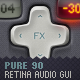 Pure90 - Retina Digital Audio Workstation GUI Kit - GraphicRiver Item for Sale