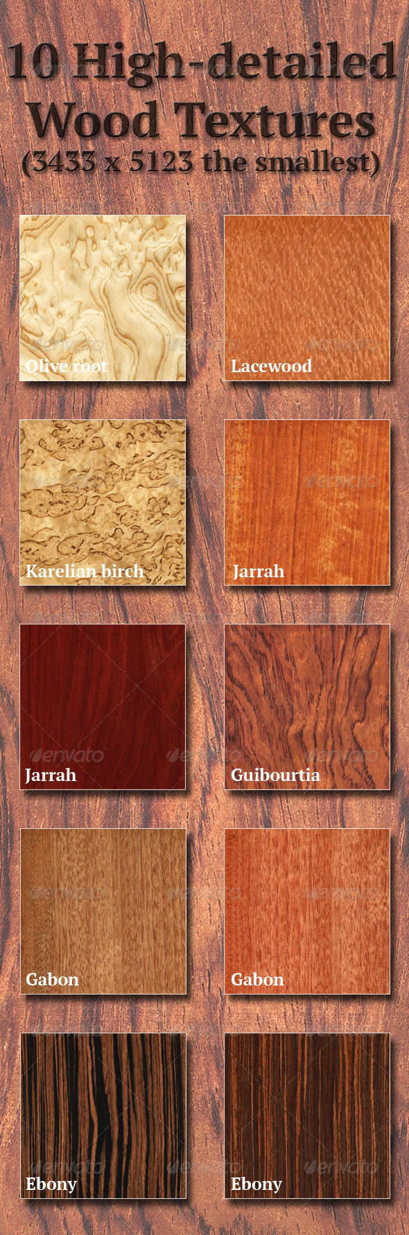 High-Detailed Wood Textures Set 2 - Wood Textures