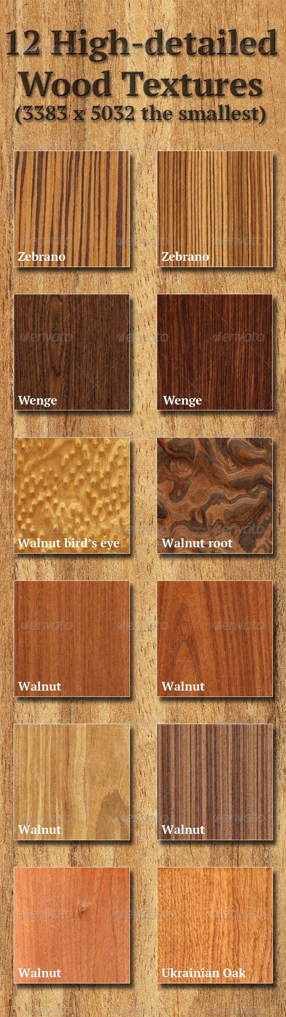 High-Detailed Wood Textures Set 4 - Wood Textures