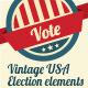 Vintage elections elements - GraphicRiver Item for Sale