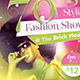 70's Fashion Show Flyer Template - GraphicRiver Item for Sale