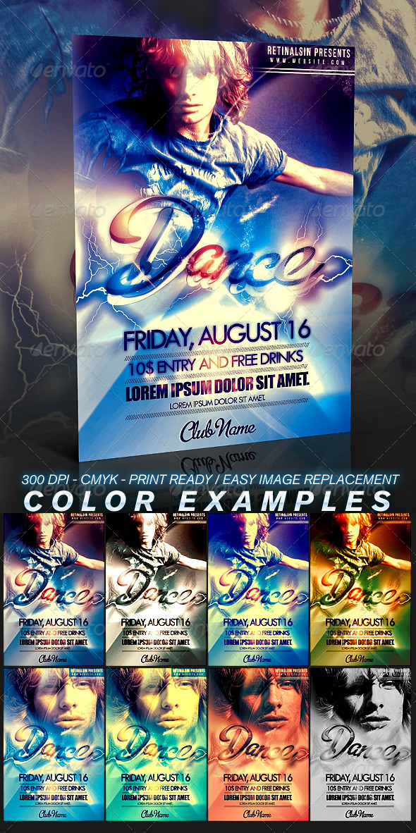 GraphicRiver Dance Flyer Template 309399