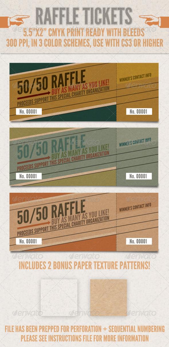 raffle ticket template 50 50