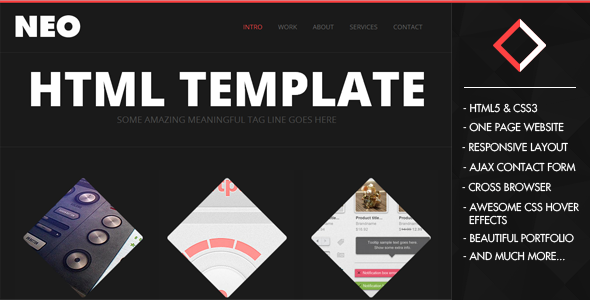 NeoFolio - One Page Responsive Creative Template