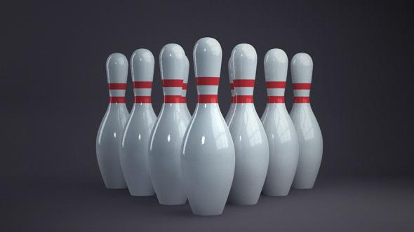 3DOcean Bowling pins 3015688