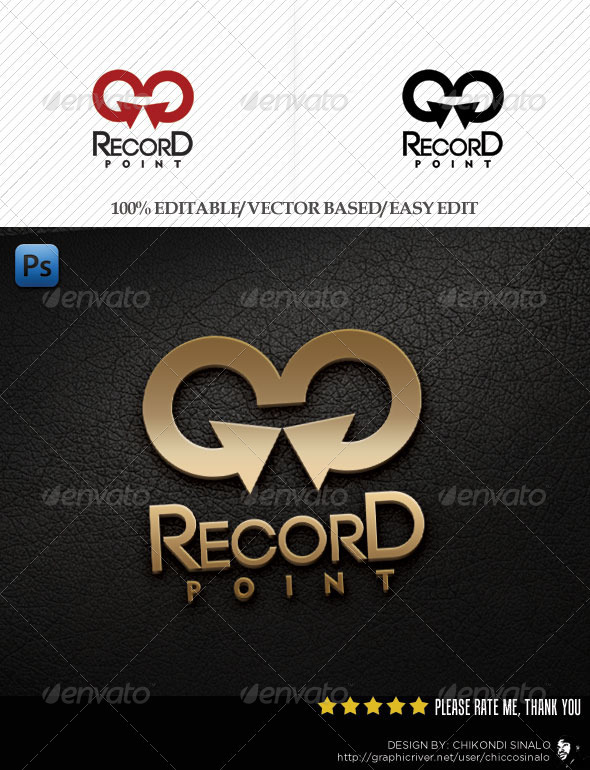 Record Point Logo Template - Abstract Logo Templates