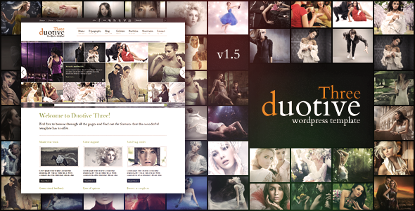Duotive Three - Complete Wordpress Template - Portfolio Creative