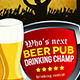 Beer Pub Drinking Champ Flyer - GraphicRiver Item for Sale