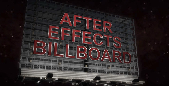 After Effects Project - VideoHive Billboard Promo 3017298