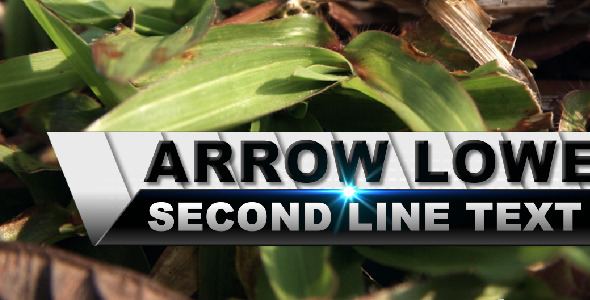 After Effects Project - VideoHive Arrow Lower Third 309220