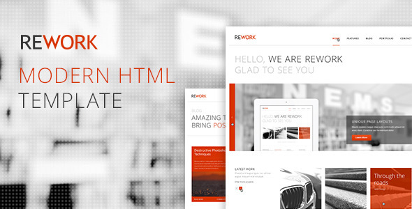 ThemeForest REWORK Responsive HTML5 CSS3 Template 3017395