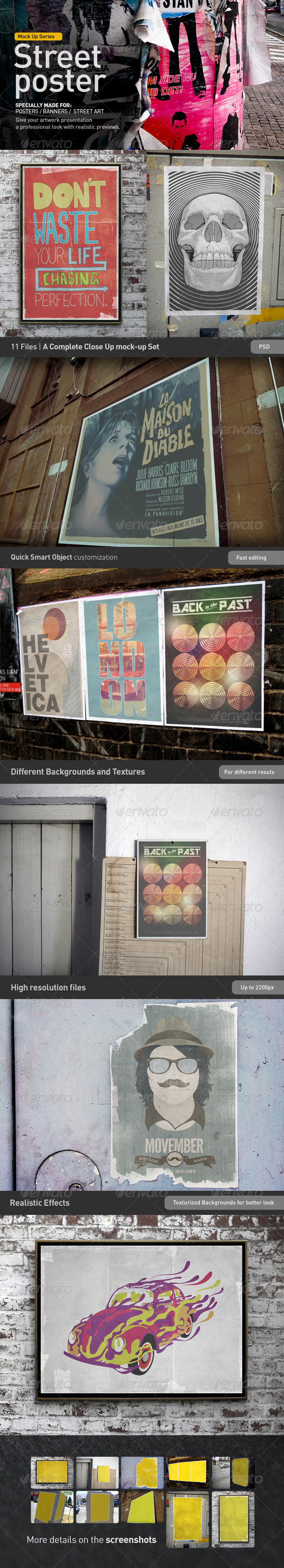 GraphicRiver Poster Mock-Up 3017426