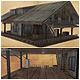 Low Poly Old Cottage 3D Model