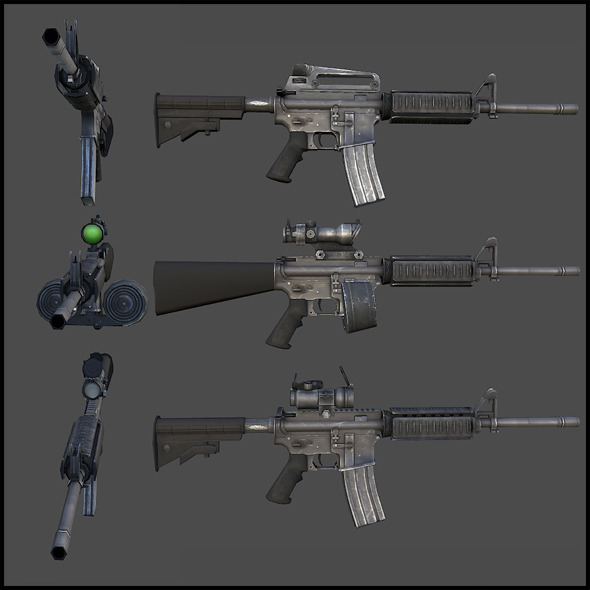 M4 Carbine - 3DOcean Item for Sale