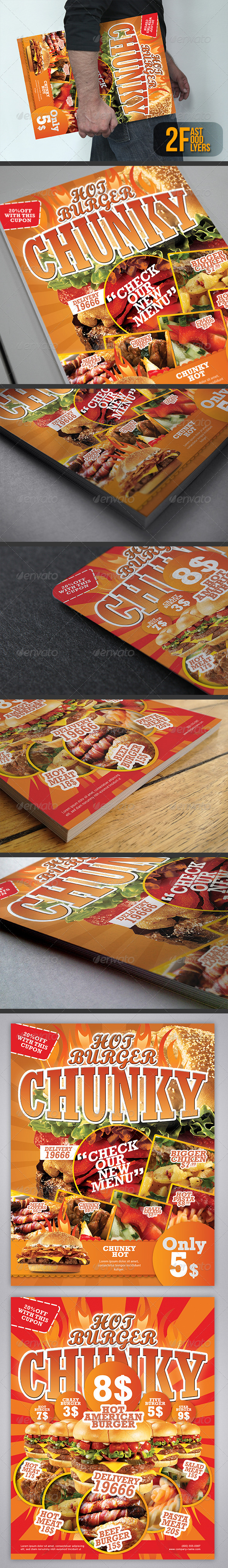 Fast Food Flyers / Magazine Ads - Restaurant Flyers