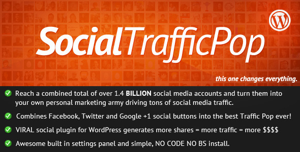 CodeCanyon Social Traffic Pop for WordPress 309705