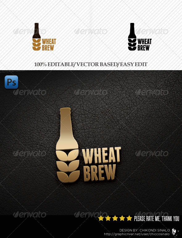 Wheat Brew Logo Template - Abstract Logo Templates