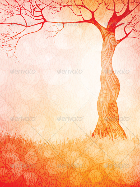 Creative landscape vector background