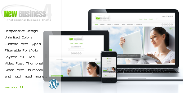 ThemeForest New Business 4 Responsive Wordpress Theme 2966276