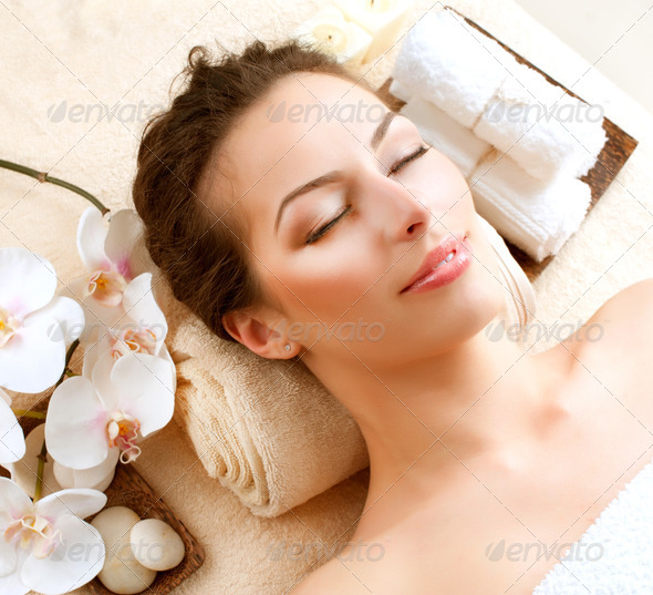 Spa Woman in Beauty Salon - Stock Photo - Images