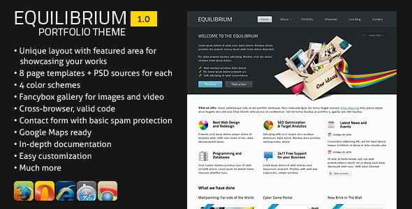 ThemeForest Equilibrium Portfolio Template 309793