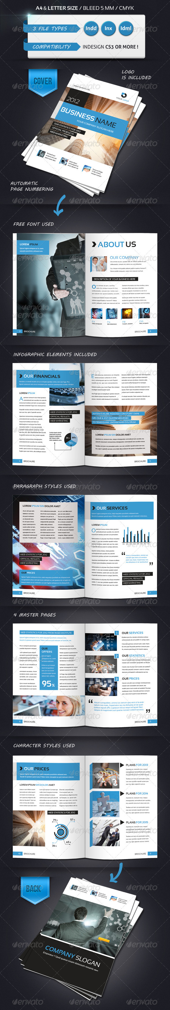 GraphicRiver Modern Brochure Template A4 12 Pages 2903124