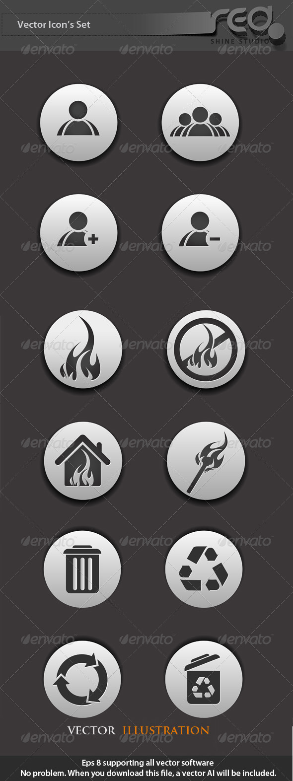 Web Icon Vector Pack - Decorative Symbols Decorative