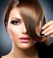 Hair. Beauty Girl With Healthy Long Brown Hair - PhotoDune Item for Sale