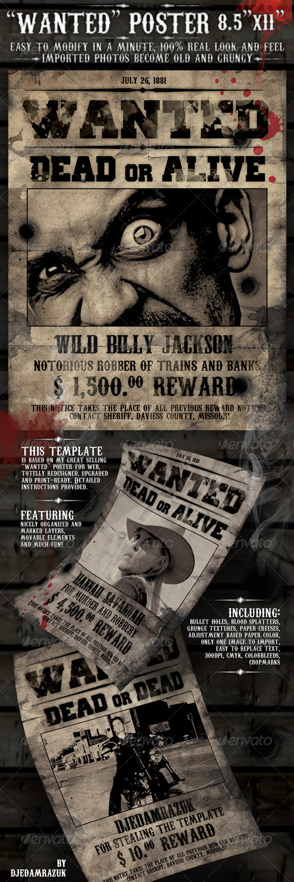 "8 5x11 Eddm Printing: 8.5x11 Poster ""Wanted"""