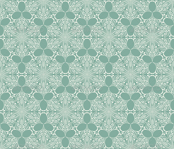 Vector Seamless Lacy Winter Pattern with Snowflake