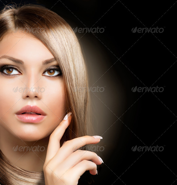 Beauty Girl With Healthy Long Hair - Stock Photo - Images