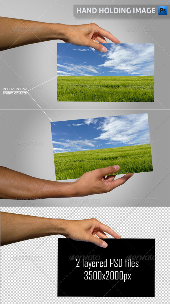 GraphicRiver Hand Holding Image 3019572