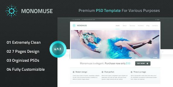 Monomuse - Premium PSD Template