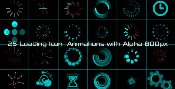 VideoHive Loading Icon Animations 3019798
