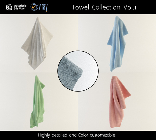 Towel Collection Vol.1 - 3DOcean Item for Sale