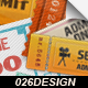 12 Vintage Event Cinema Tickets - GraphicRiver Item for Sale