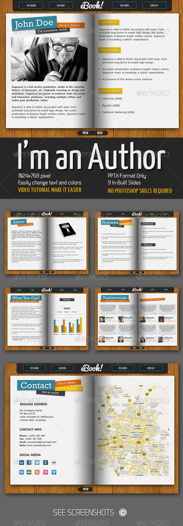I'm an Author PowerPoint Presentation - Business Powerpoint Templates