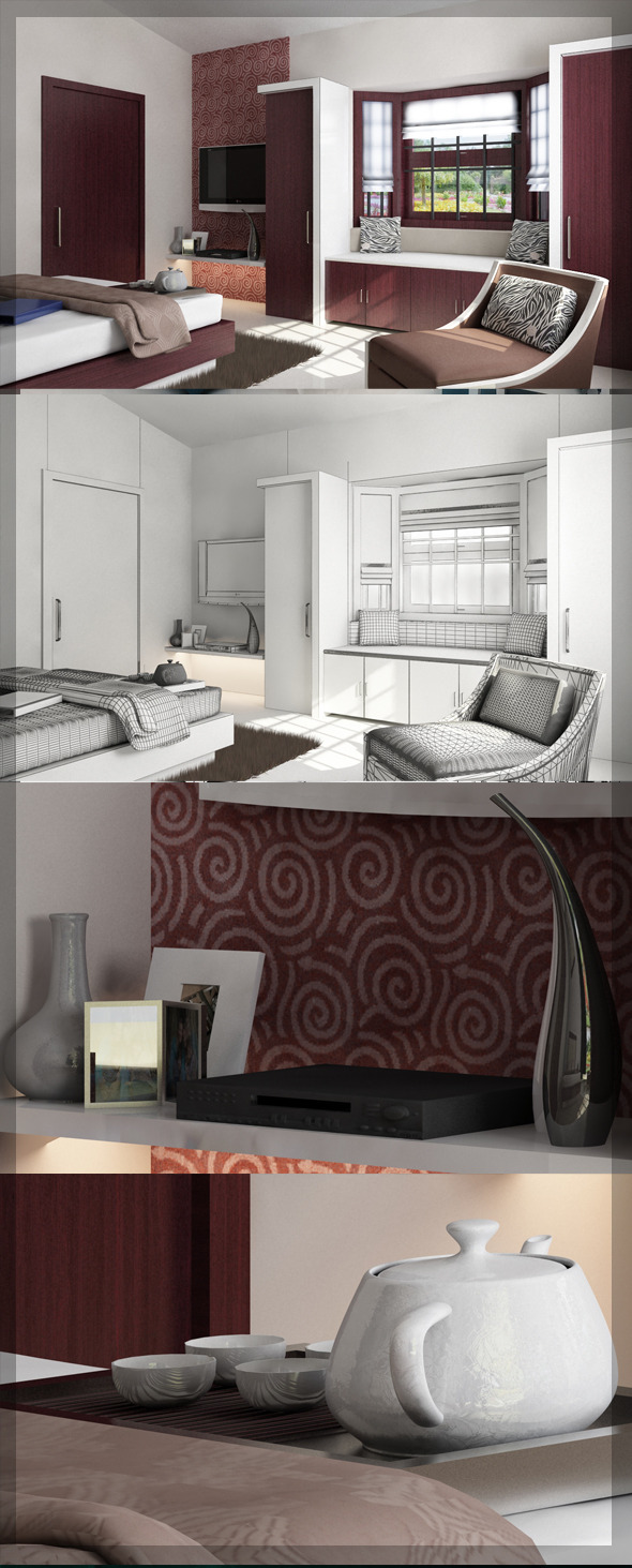 3DOcean Bed Room 3D interior design 8080 106 3020415