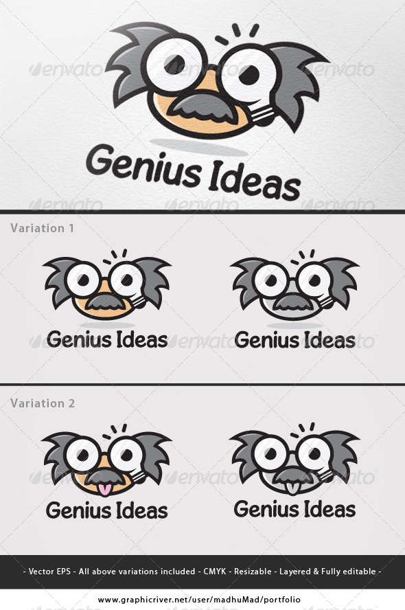 Genius Ideas Logo  - Humans Logo Templates