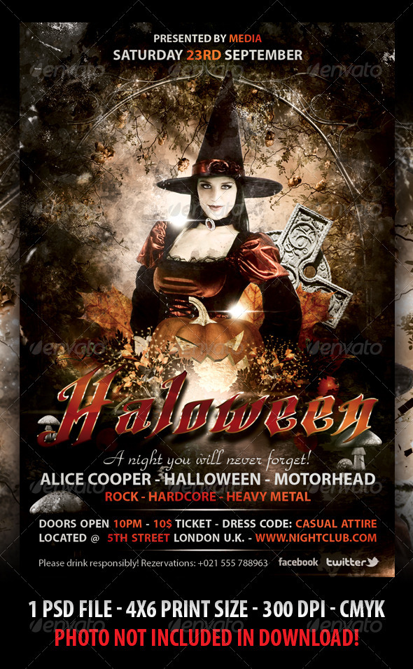 GraphicRiver Halloween Party FLyer 3011350