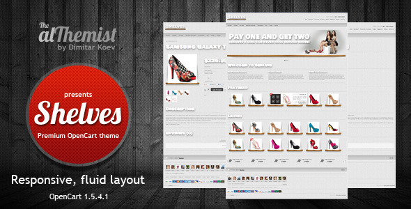 ThemeForest Shelves Responsive Premium OpenCart theme 3020518