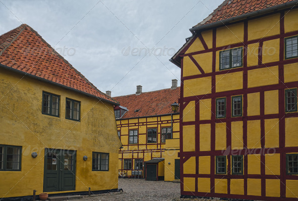 Half-timbered house in Kerteminde - Stock Photo - Images