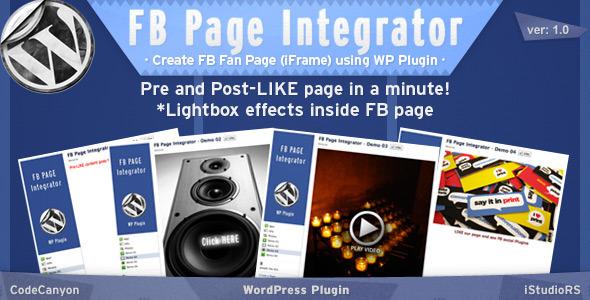 FB Page Integrator - WordPress Plugin - CodeCanyon Item for Sale