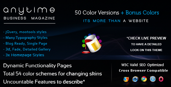 Anytime - 54 in 1, HTML Powerful Business Magazine