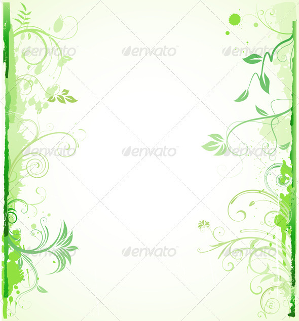 Floral background  - Borders Decorative