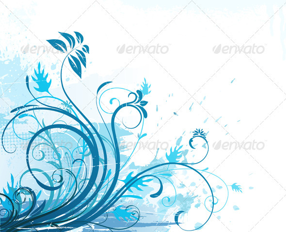 Floral background  - Flourishes / Swirls Decorative