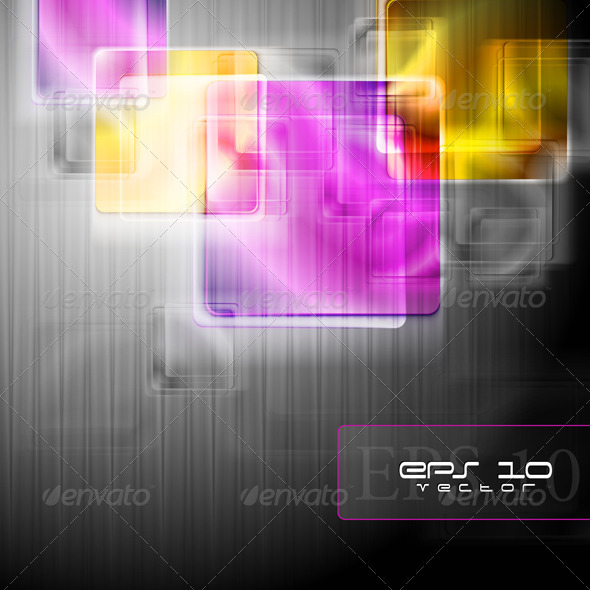 Colourful squares. Vector background - Abstract Conceptual
