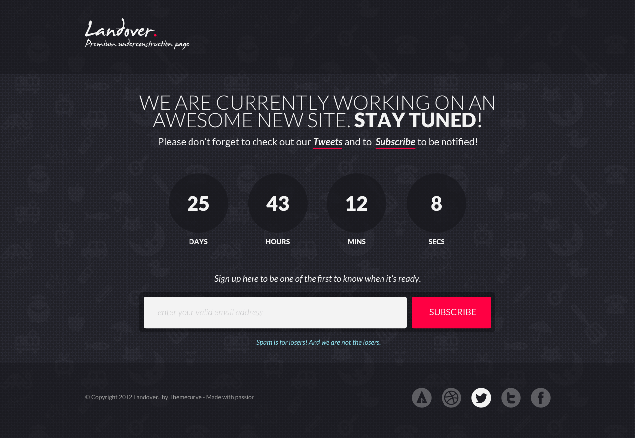 Landover - Responsive Coming Soon Page