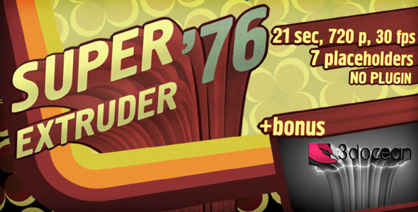 VideoHive Super Extruder 76 Titles with Placeholders &Bonus 3007924